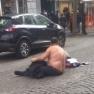 Vomero  via Luca Giordano  ambulante abusivo